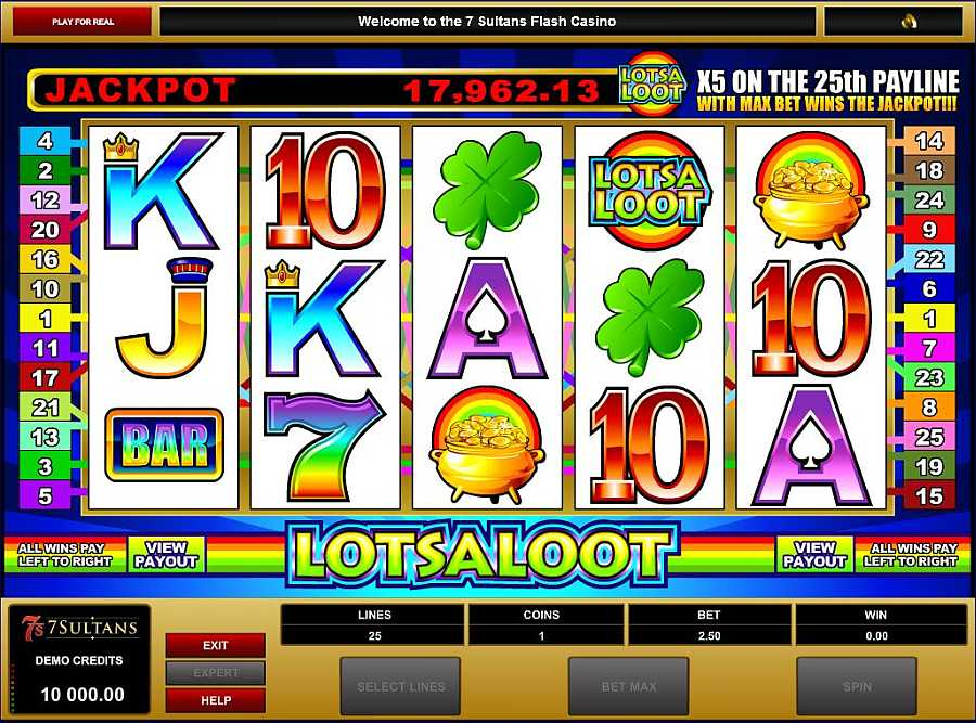 lots a loot 5 reel Slot Screenshot