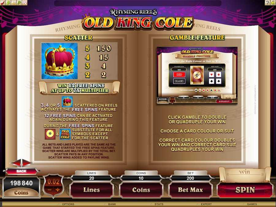 Old King Cole Game Feature