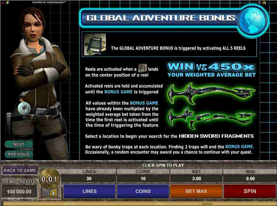 Tomb Raider II Global Adventure Bonus