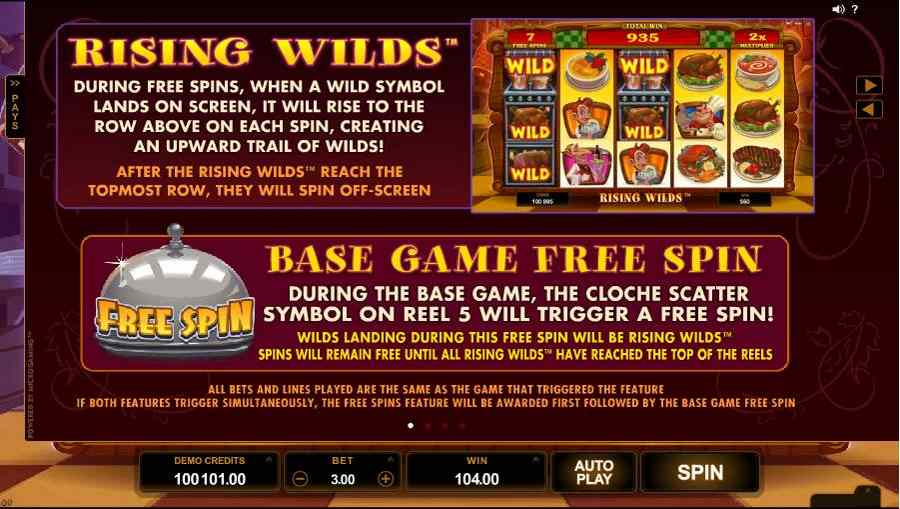 Big Chef Rising Wilds Free Spins