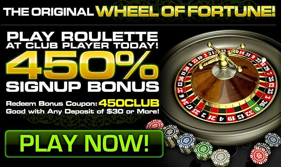 Club Player Roulette Deposit Code 450CLUB