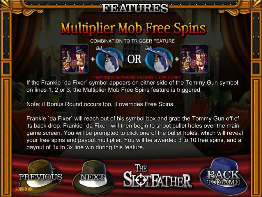The Slotfather Multiplier Mob Free Spins
