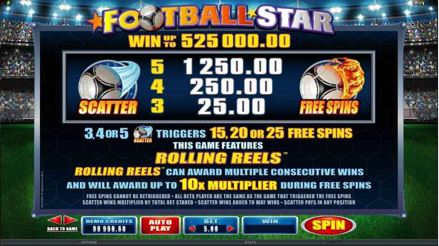 Football Star Free Spins Feature