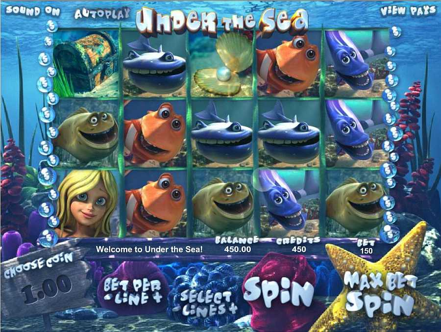 Under the Sea Main Slots Screen