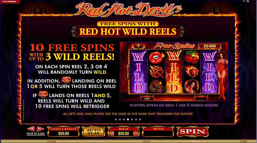 Red Dot Devil Free Spins Feature