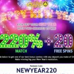 Club Player New Years Bonus Code NEWYEAR220