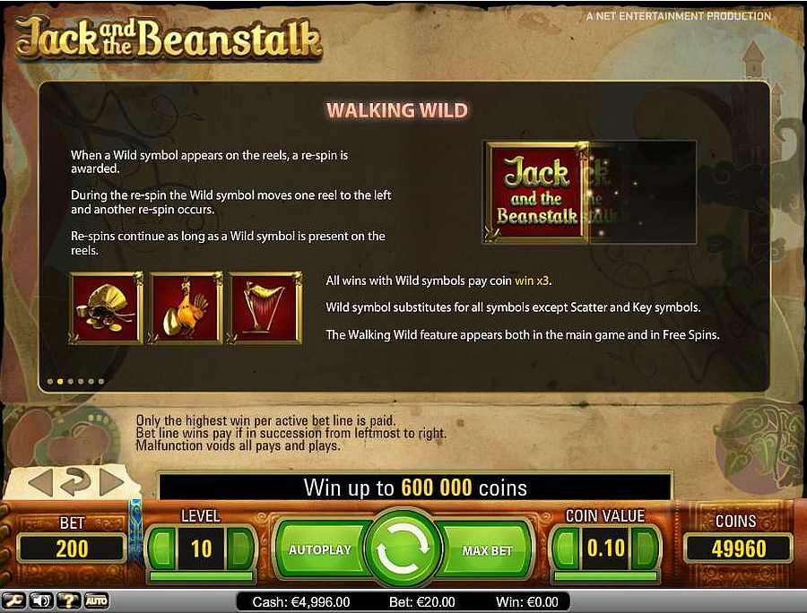 Jack and the Beanstalk Walking Wild Table