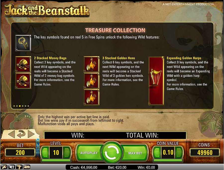 Jack and the Beanstalk Treasure Collection Table