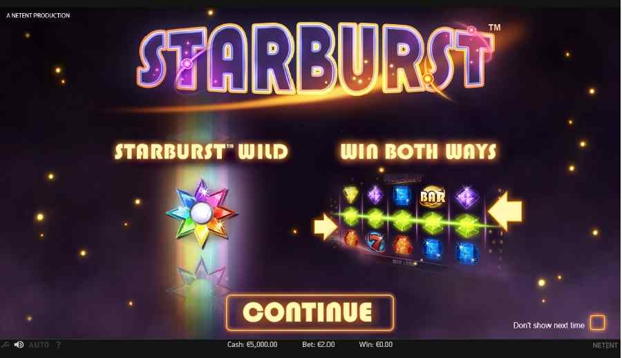 Starburst Splash Screen