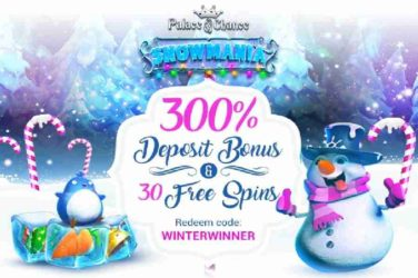 Palace of chance Snowmania Bonus Code
