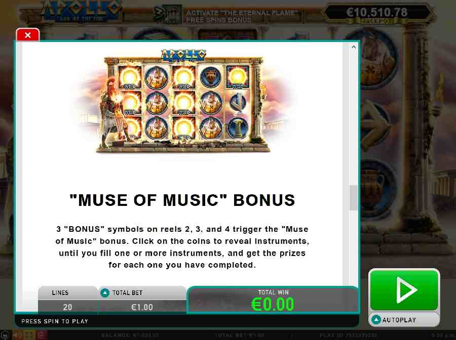 Muse of Music Bonus
