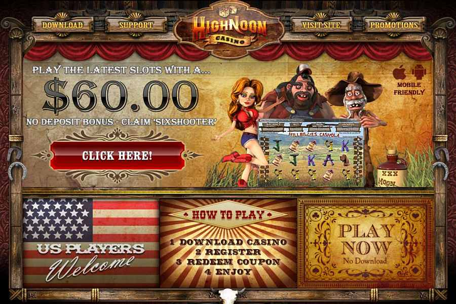 High Noon No Deposit Bonus Code
