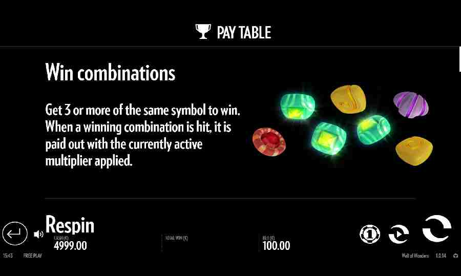 Win Combinations Feature