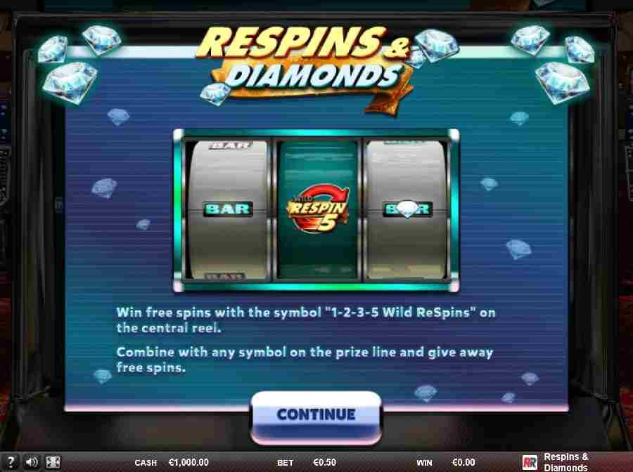 Respins & Diamonds Free Spins
