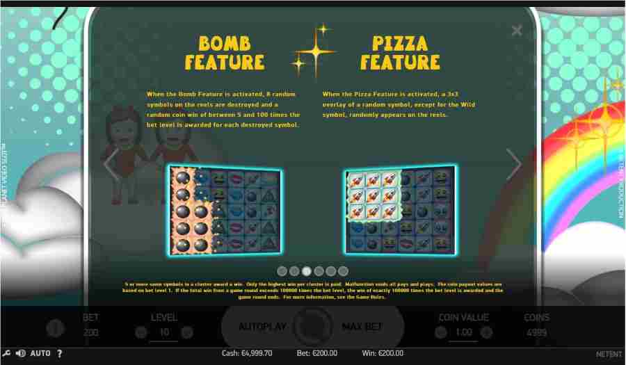 Bomb & Pizza Features