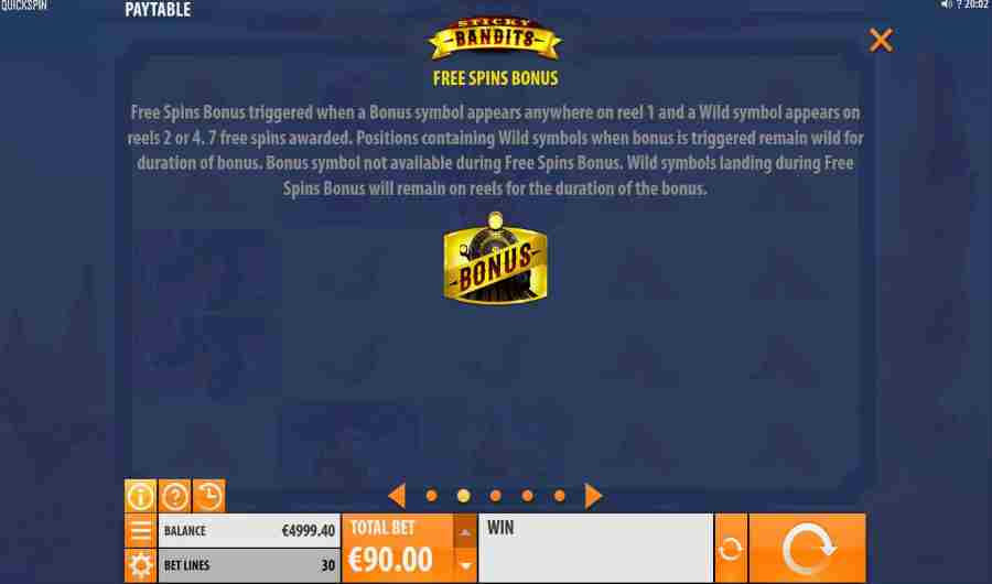 Sticky Bandits Free Spins Feature