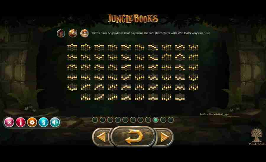 Jungle Books 58 Win Pay-lines