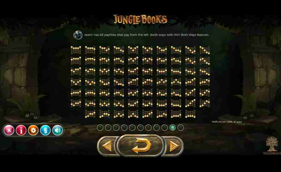 Jungle Books 68 Winning Pay-lines