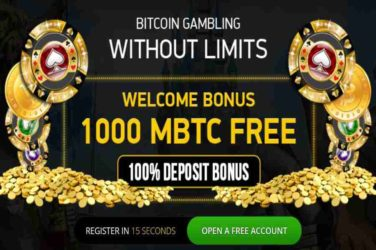 Vegascasino 100% Bitcoin Welcome Bonus