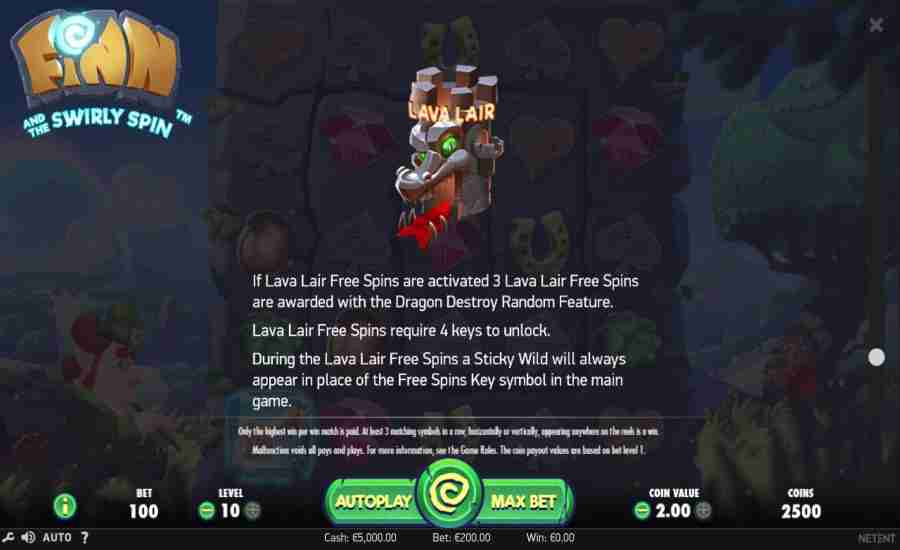 Lava Lair Free Spins