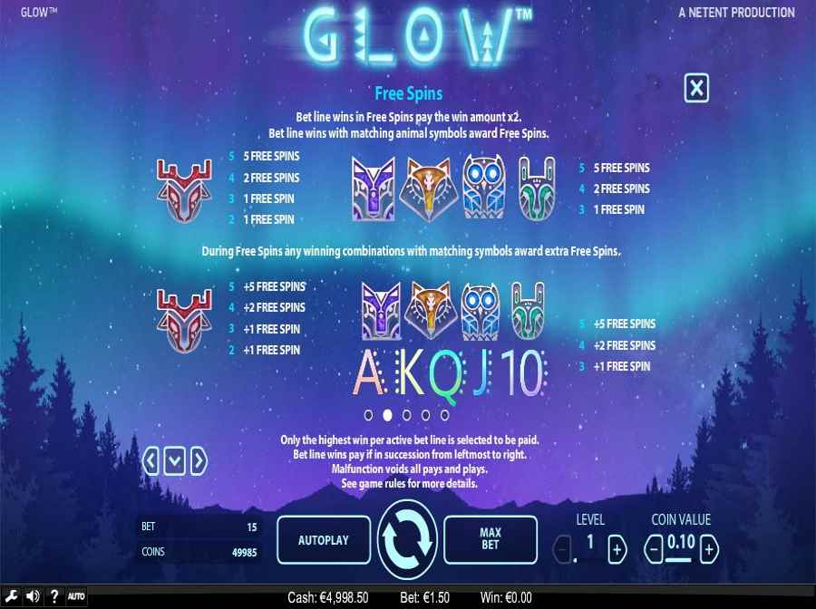 Glow Free Spins Symbol Value