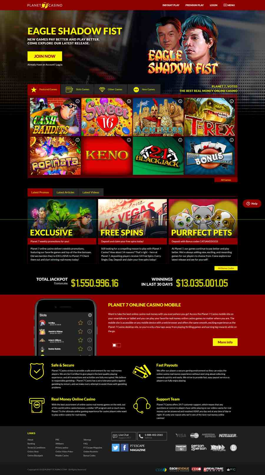 Planet 7 Casino Reviews