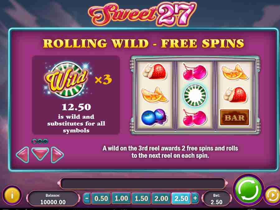 Rolling Wild Free Spins