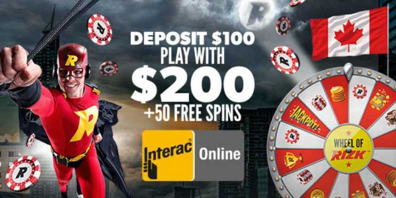 Rizk Casino Adds Interac for Canadian Customers