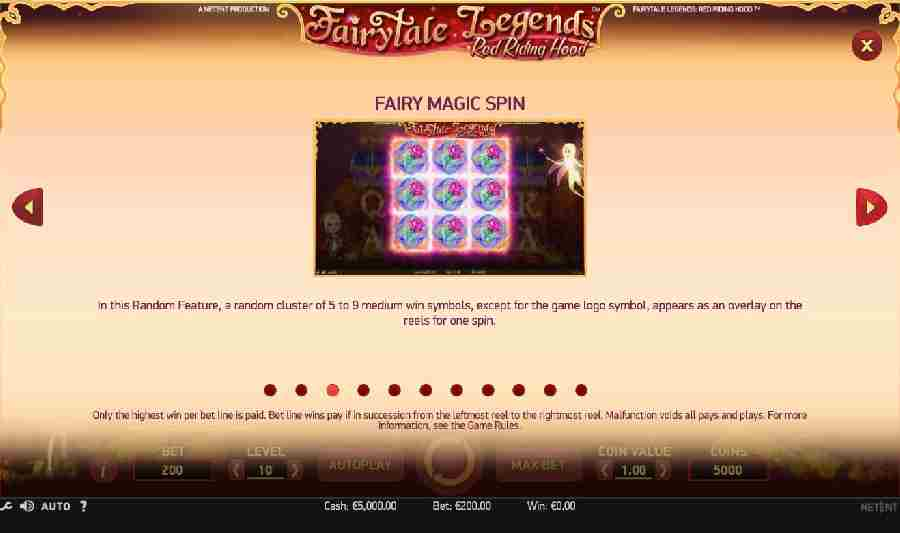 Red Riding Hood Fairy Magic Spin