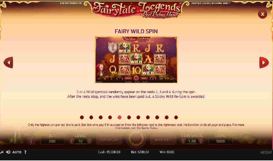 Red Riding Hood Fairy Wild Spin