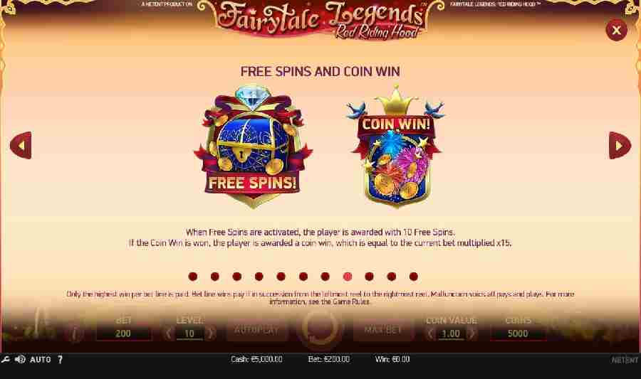 Red Riding Hood Free Spins And Coin Win