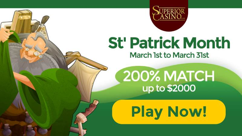Superior Casino St. Patrick's Day Bonus