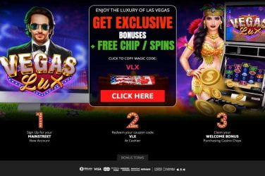 High Country vegas lux Bonus Code