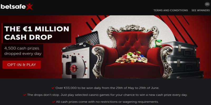 Betsafe €1 Million Cash Drop
