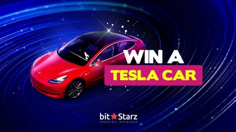 BitStarz Win Tesla Model 3 luxury Giveaway