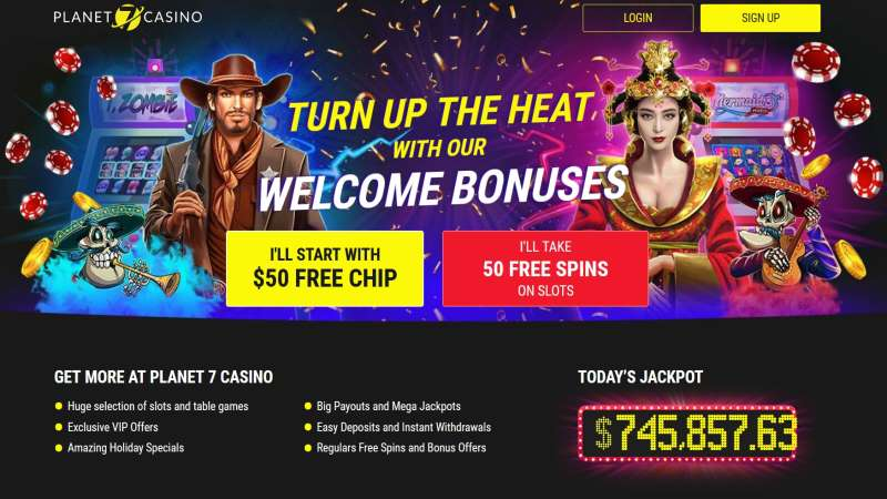 Planet 7 Free Spins