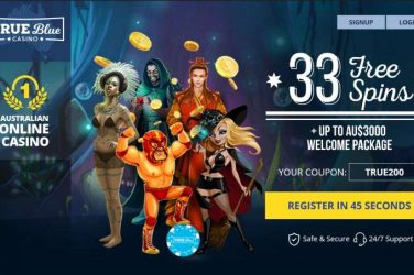 True Blue Welcome Bonus Free Spins Code