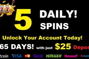 5 Daily Free Spins