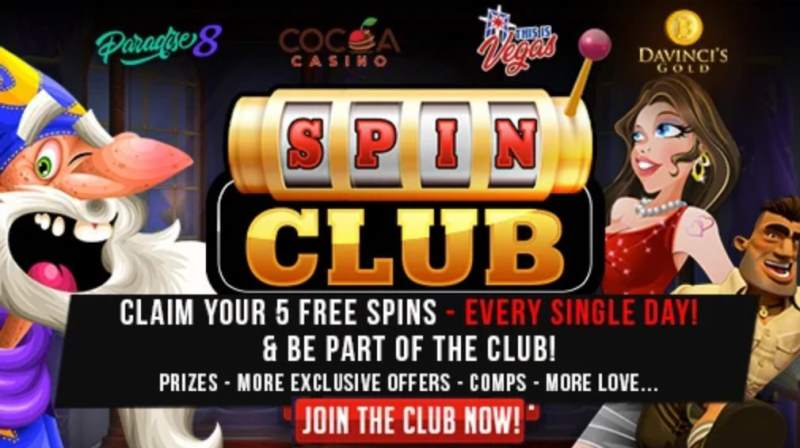 spin club 5 free spins daily